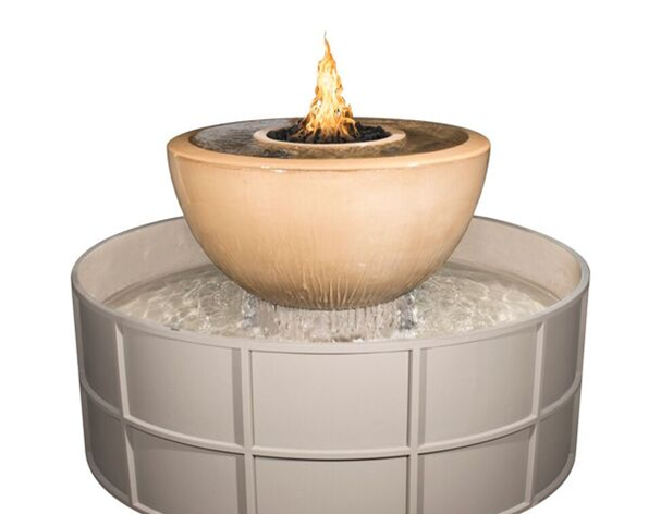 The Outdoor Plus 360° Sedona Self Contained Fire Bowl Unit + Free Cover - The Fire Pit Collection