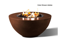 "Load image into Gallery viewer, Round Fire Bowl Oasis 34"" with Electronic Ignition - Free Cover ✓ [Slick Rock Concrete]"