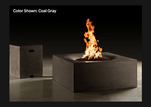"Load image into Gallery viewer, Square Fire Table Horizon 36"" with Electronic Ignition - Free Cover ✓ [Slick Rock Concrete]"