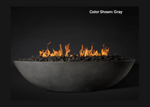"Fire Bowl Oasis: Oval 60"" with Electronic Ignition - Free Cover ✓ [Slick Rock Concrete]"