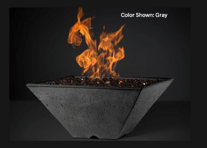 Fire Bowl Ridgeline: Square with Electronic Ignition - Free Cover ✓ [Slick Rock Concrete]