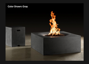 "Square Fire Table Horizon 36"" with Electronic Ignition - Free Cover ✓ [Slick Rock Concrete]"