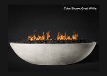"Load image into Gallery viewer, Slick Rock Concrete Oasis 60"" Oval Fire Bowl with Match Ignition"