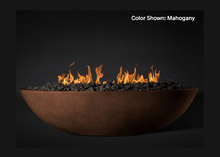 "Load image into Gallery viewer, Fire Bowl Oasis: Oval 60"" with Electronic Ignition - Free Cover ✓ [Slick Rock Concrete]"
