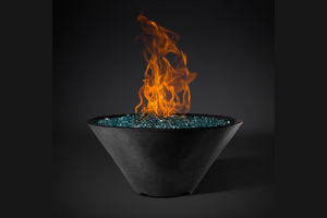 Fire Bowl Ridgeline Conical with Electronic Ignition - Free Cover ✓ [Slick Rock Concrete]