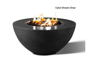 "Slick Rock Concrete Oasis 34"" Round Fire Bowl with Electronic Ignition"