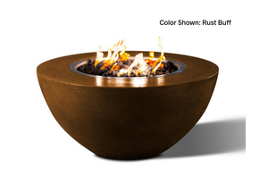 "Round Fire Bowl Oasis 34"" with Electronic Ignition - Free Cover ✓ [Slick Rock Concrete]"
