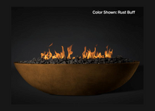 "Load image into Gallery viewer, Fire Bowl Oasis: Oval 60"" with Match Ignition  - Free Cover ✓ [Slick Rock Concrete]"
