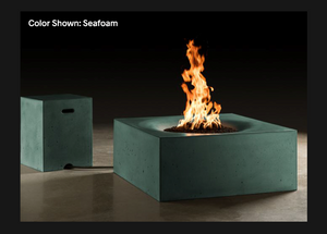 "Slick Rock Concrete Horizon 36"" Square Fire Table with Electronic Ignition"