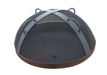 "Load image into Gallery viewer, Fire Pit Art 27.5"" Steel Mesh Spark Guard - The Fire Pit Collection"