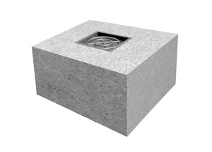 "The Outdoor Plus 84"" x 84"" x 24"" Ready-to-Finish Square Gas Fire Pit Kit + Free Cover - The Fire Pit Collection"