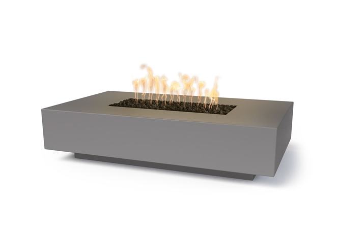 The Outdoor Plus Cabo Linear Concrete Fire Pit + Free Cover - The Fire Pit Collection