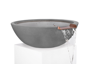 Sedona Concrete Water Bowl - Free Cover ✓ [The Outdoor Plus]