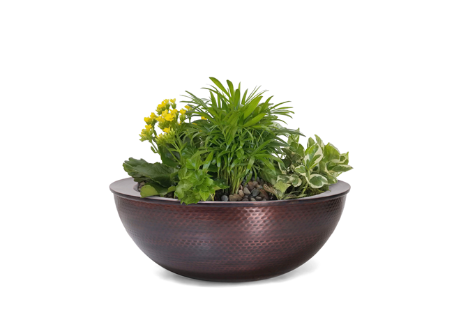 The Outdoor Plus Sedona Copper Planter Bowl