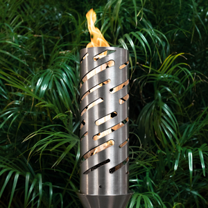 The Outdoor Plus Shooting Star Fire Torch / Stainless Steel + Free Cover - The Fire Pit Collection
