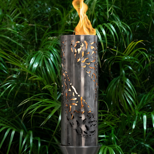 The Outdoor Plus Tiki Fire Torch / Stainless Steel + Free Cover - The Fire Pit Collection