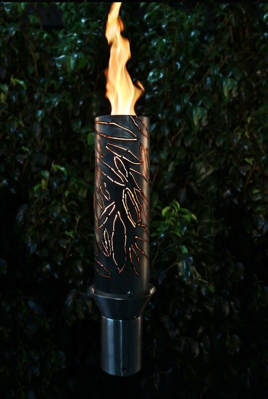 The Outdoor Plus Tropical Fire Torch / Stainless Steel + Free Cover - The Fire Pit Collection