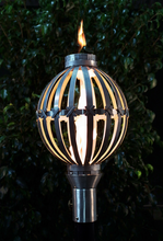 Load image into Gallery viewer, The Outdoor Plus Globe Fire Torch / Stainless Steel + Free Cover - The Fire Pit Collection