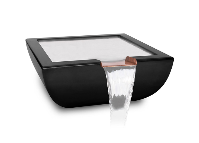 The Outdoor Plus Avalon Concrete Water Bowl + Free Cover - The Fire Pit Collection