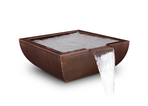 The Outdoor Plus Avalon Hammered Copper Water Bowl + Free Cover - The Fire Pit Collection