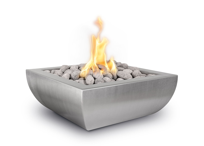 The Outdoor Plus Avalon Stainless Steel Fire Bowl + Free Cover - The Fire Pit Collection