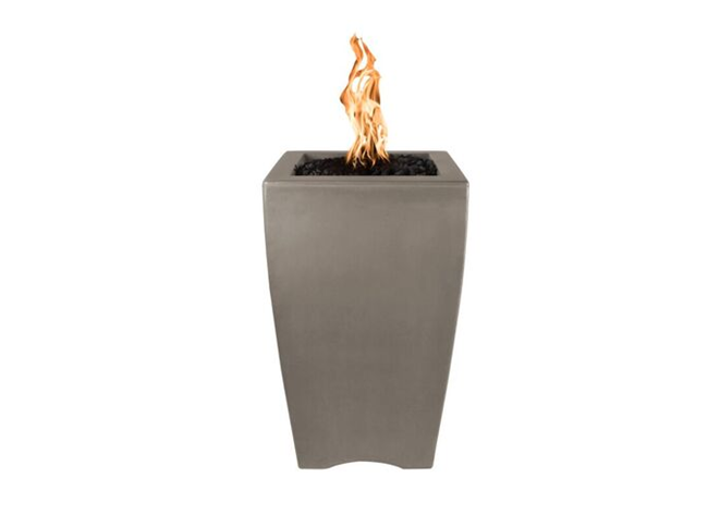 The Outdoor Plus Baston Concrete Fire Pillar + Free Cover - The Fire Pit Collection
