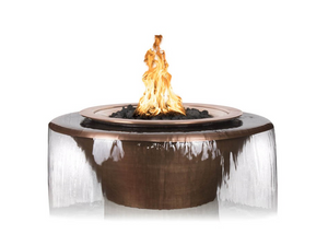 The Outdoor Plus Cazo 360° Copper Fire & Water Bowl + Free Cover - The Fire Pit Collection