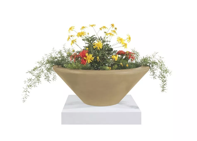 The Outdoor Plus Cazo Concrete Planter Bowl - The Fire Pit Collection