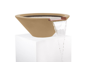 The Outdoor Plus Cazo Concrete Water Bowl + Free Cover - The Fire Pit Collection