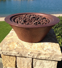 Load image into Gallery viewer, The Outdoor Plus Cazo Copper Fire Bowl + Free Cover - The Fire Pit Collection