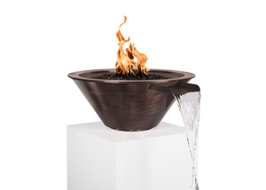 The Outdoor Plus Cazo Copper Fire & Water Bowl + Free Cover - The Fire Pit Collection