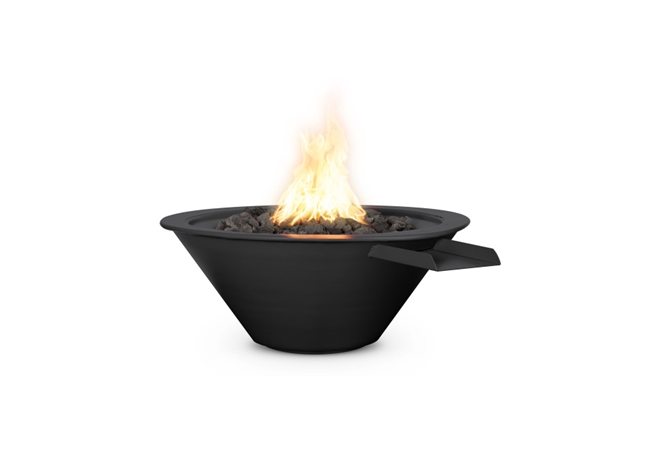 The Outdoor Plus Cazo Powdercoated Steel Fire & Water Bowl + Free Cover - The Fire Pit Collection