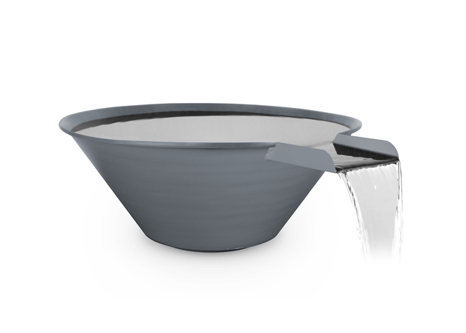 The Outdoor Plus Cazo Powdercoated Steel Water Bowl + Free Cover - The Fire Pit Collection