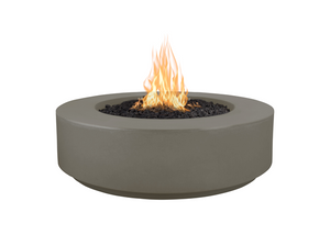 "The Outdoor Plus 42"" Florence Concrete Fire Pit / 12"" Tall+ Free Cover - The Fire Pit Collection"