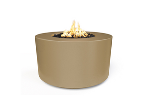 "The Outdoor Plus 42"" Florence Concrete Fire Table / 24"" Tall + Free Cover - The Fire Pit Collection"
