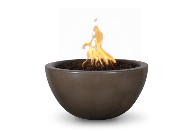 The Outdoor Plus Luna Concrete Fire Bowl + Free Cover - The Fire Pit Collection
