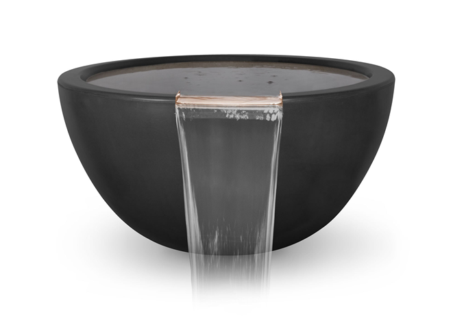The Outdoor Plus Luna Concrete Water Bowl + Free Cover - The Fire Pit Collection