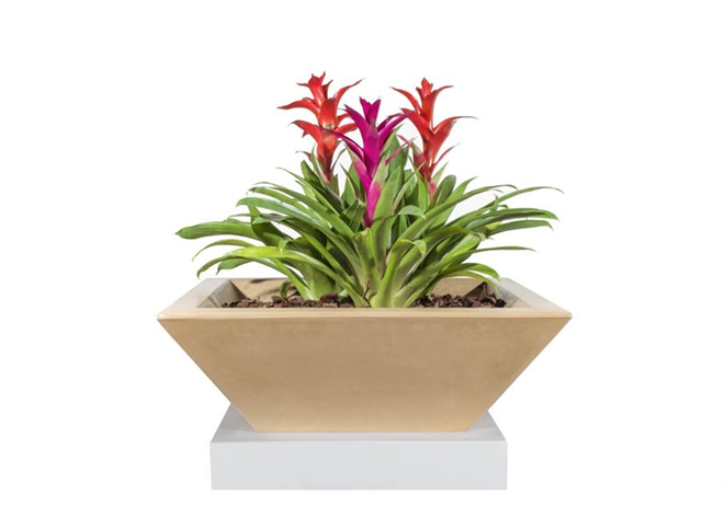 The Outdoor Plus Maya Concrete Planter Bowl - The Fire Pit Collection