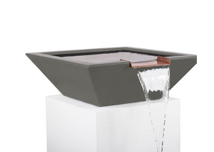The Outdoor Plus Maya Concrete Water Bowl + Free Cover - The Fire Pit Collection