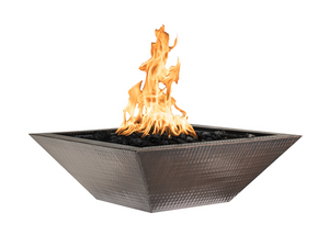 The Outdoor Plus Maya Copper Fire Bowl + Free Cover - The Fire Pit Collection