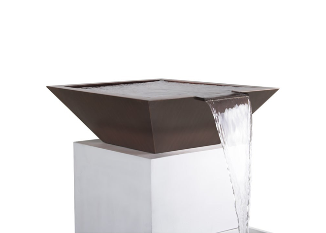 The Outdoor Plus Maya Copper Water Bowl + Free Cover - The Fire Pit Collection