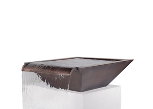 The Outdoor Plus Maya Copper Water Bowl - Wide Spillway + Free Cover - The Fire Pit Collection