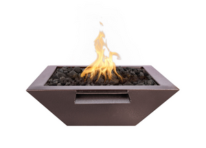 The Outdoor Plus Maya Powdercoated Steel Fire & Water Bowl + Free Cover - The Fire Pit Collection
