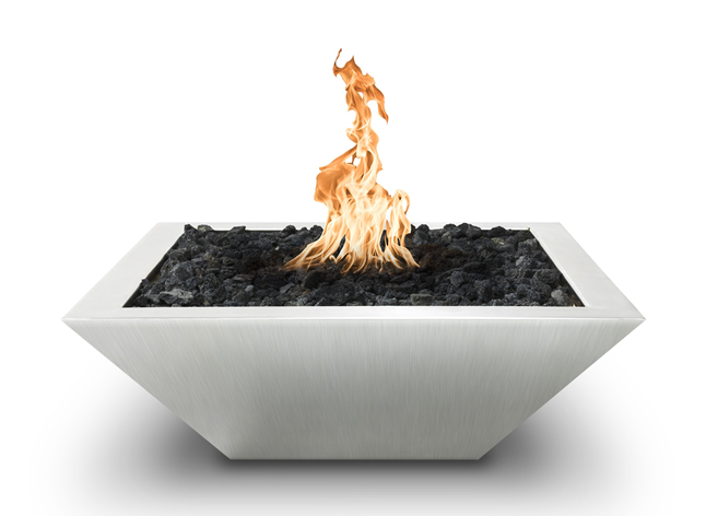 The Outdoor Plus Maya Stainless Steel Fire Bowl + Free Cover - The Fire Pit Collection
