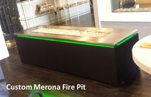 The Outdoor Plus Merona Fire Table + Free Cover - The Fire Pit Collection