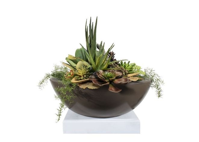 The Outdoor Plus Sedona Concrete Planter Bowl - The Fire Pit Collection