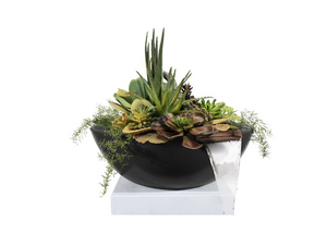 The Outdoor Plus Sedona Concrete Planter Bowl with Water - The Fire Pit Collection