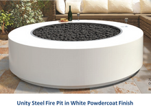 "Load image into Gallery viewer, The Outdoor Plus Unity Steel Fire Pit - 24"" Tall + Free Cover - The Fire Pit Collection"