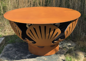 "Fire Pit Art 40"" Steel Table Top - The Fire Pit Collection"