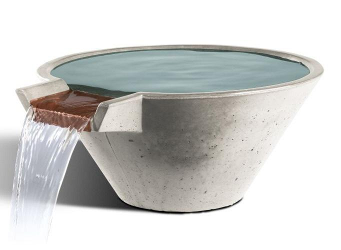 Slick Rock Concrete Cascade Conical Water Bowl